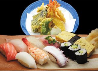 Nigirizushi and Tempura Set