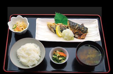 Salt-grilled Mackerel Set