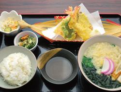 うどん& 天ぷら定食