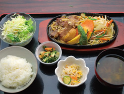 牛カルビ焼定食